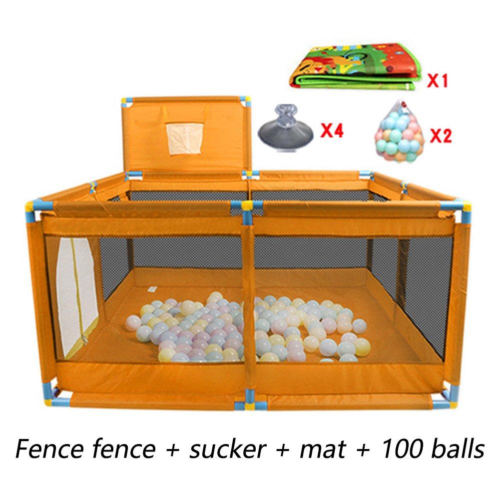 マットボールとシューティングフェンス、屋内屋外の子供ヘビーデューティーフェンスとPlaypens幼児 (色 : 100 balls)  100 balls B07FD155MG