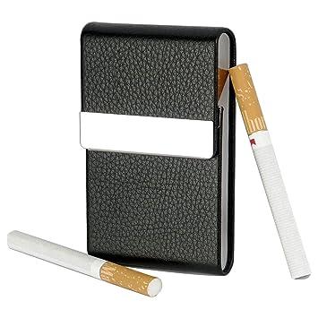 DecoDeco Cigarette Box Tabac Boite Etui A Cartes De Visite En Cuir PU Avec Fermeture