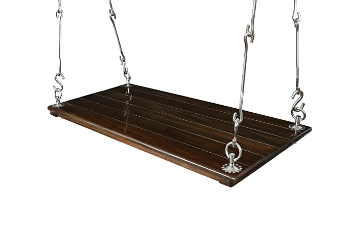 Riyo Moda Enterprises Outdoor Wooden Hanging Swing Set / Jhula With Melamine Coating For Home And Garden (Upto 200Kgs Of Human Weight)