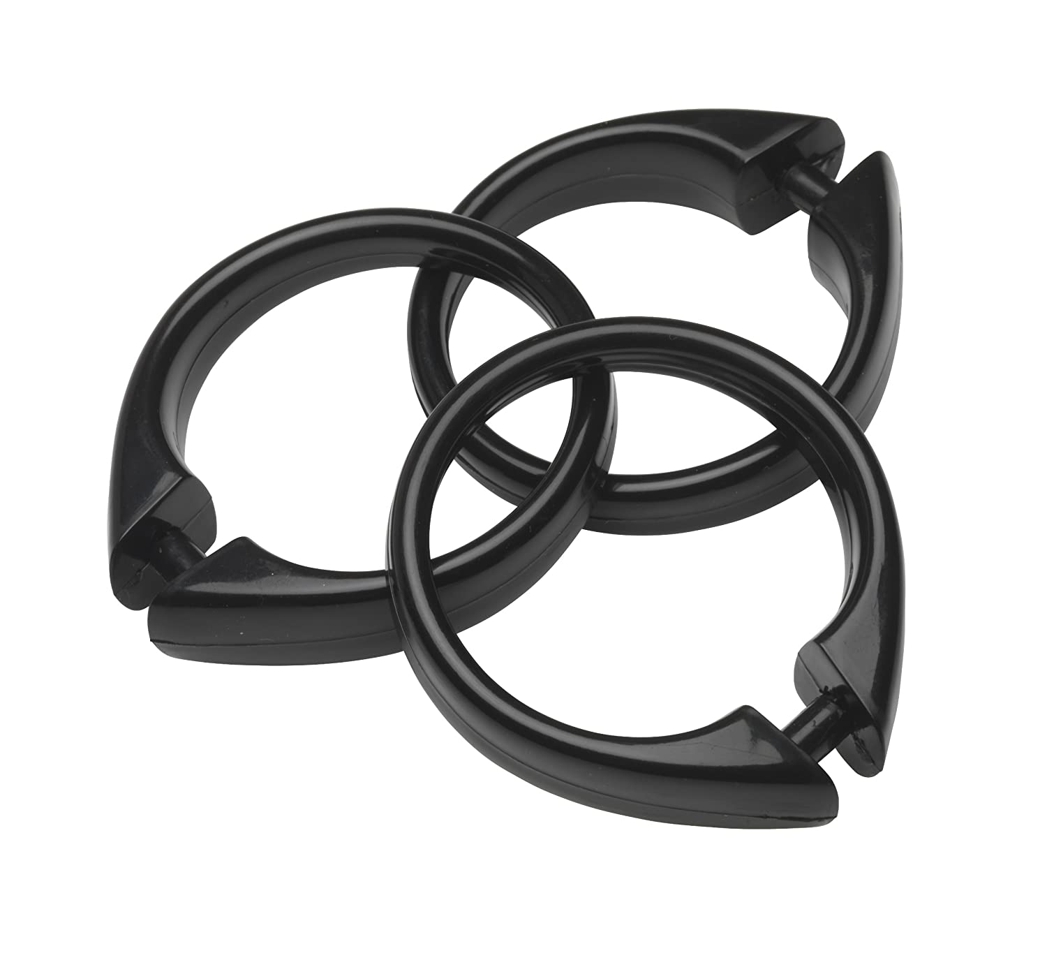 set hrmx rings hub of plastic accessories centre black