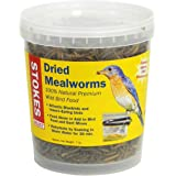 Stokes Select 100% Natural Premium Dried Mealworms, 7 oz. Tub