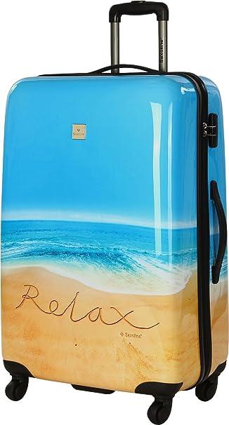 Saxoline Saxoline con diseño de playa Saller Relax, con 2 o 4 ruedas, candado