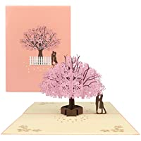 Cherry Blossom Pop Up Card - Valentines Day Card, 3D Card, Greeting Card, Birthday Card, Popup Greeting Cards, Mother's…