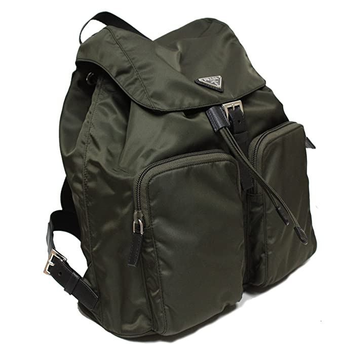 f438029a3 Prada Hunter Green Tessuto Zainetto Nylon and Leather Backpack 1BZ005:  Amazon.ca: Clothing & Accessories