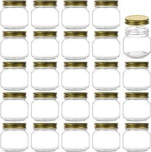 8 oz Glass Jars With Lids,Encheng Ball Regular Mouth Mason Jars For Storage,Pickles Canning Jars For Caviar,Herb,Jelly,Jams,Honey,Glass Storage Jars For Kitchen Dishware Safe,Set Of 30