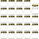 Encheng 8 oz Glass Jars With Lids,Ball Regular Mouth Mason Jars For Storage,Canning Jars For Caviar,Herb,Jelly,Jams…