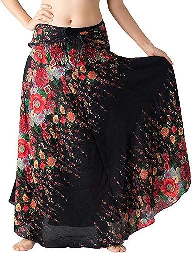 hippie bohème gypsy boho fleurs taille élastique licol Jupe