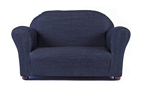 Keet Roundy Denim Childrens Sofa, Blue