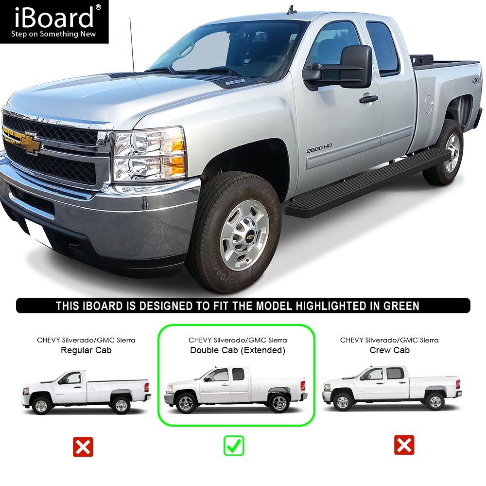 Aps Iboard Tabla De Correr Para Chevrolet Gmc Silverado Sierra Accesorios Camionetas Extended Cab2 Full 2 Puertas Suicida Negro 6 W2w 55ft Bed