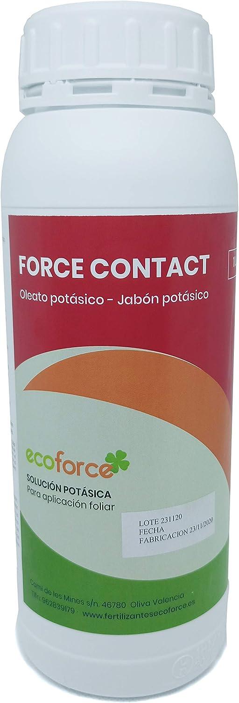 CULTIVERS Jabón Potásico Bio 1 L. Actúa por Contacto. Múltiples usos, Solución Potásica 100% Natural Protección para Tus Plantas, Mejora Las defensas de Las Plantas