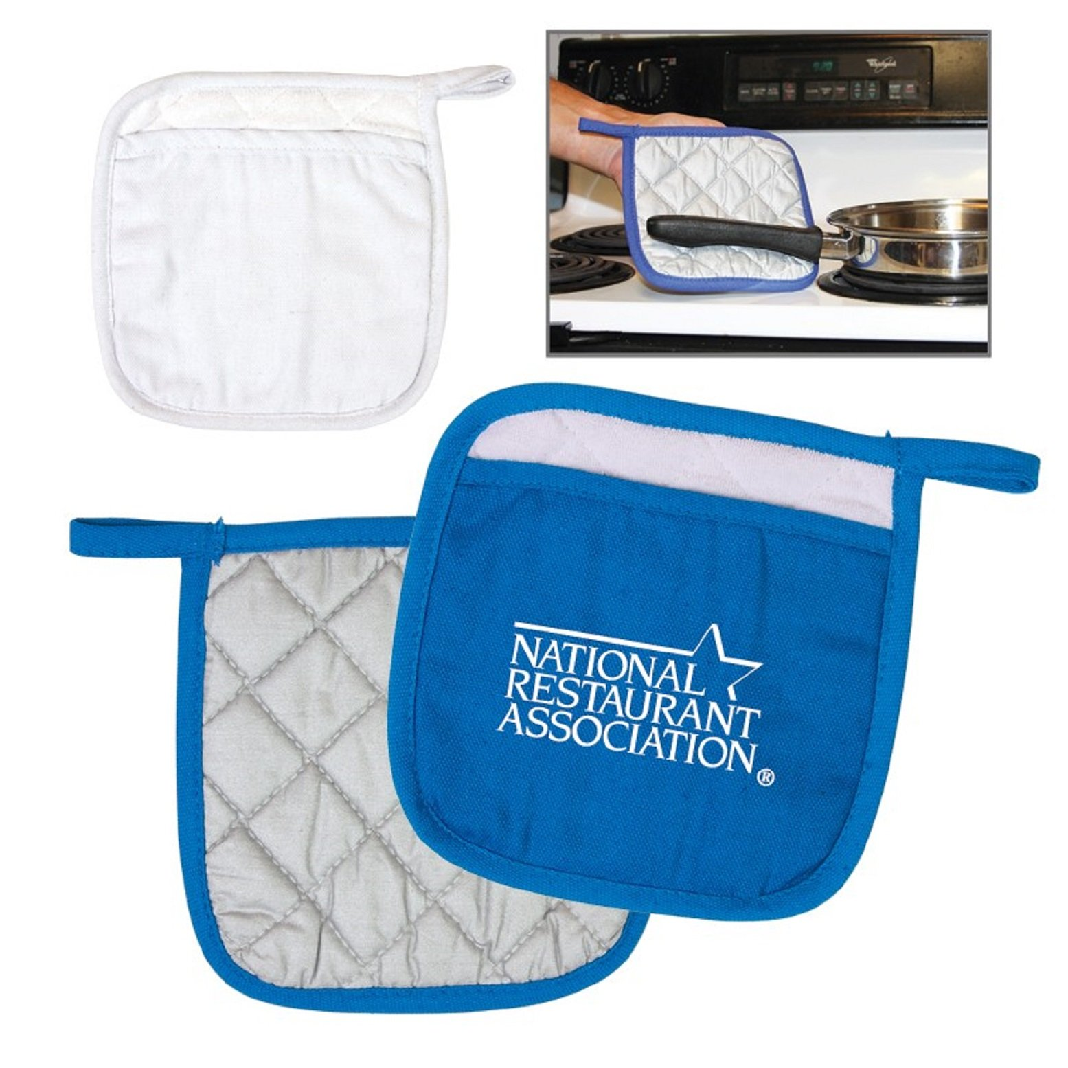 100 Personalized Quilted Pot Holder Printed With Your Logo Or Message