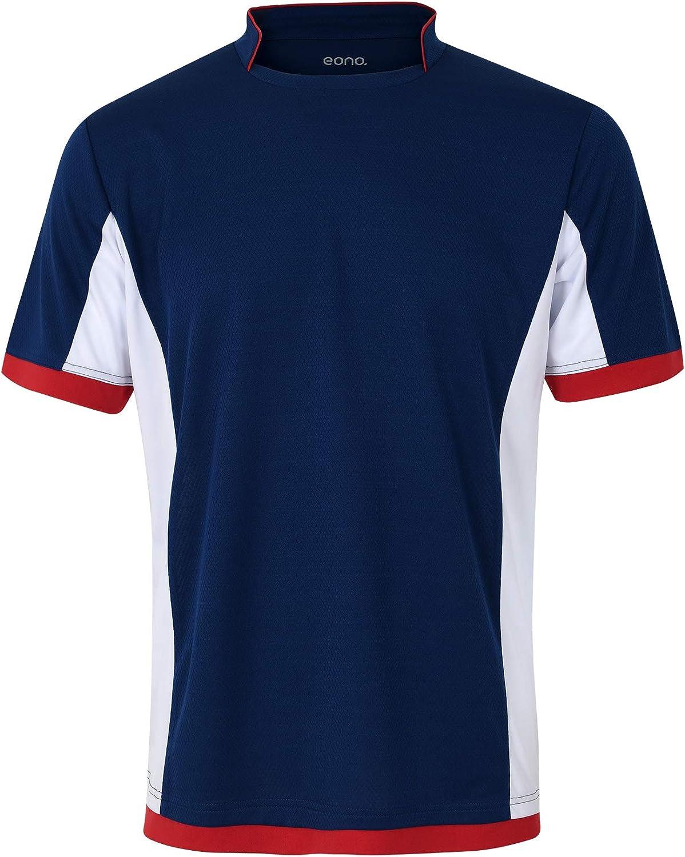 Eono Essentials - Camiseta de fútbol transpirable para hombre: Amazon.es: Ropa y accesorios