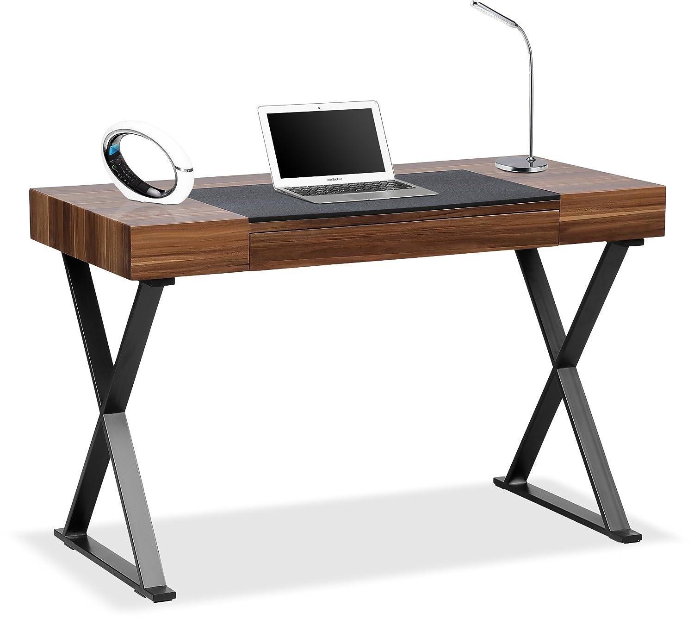 Centurion Supports ADONIS Walnut and Matte Black Legs Ergonomic Home Office Luxury Computer Desk