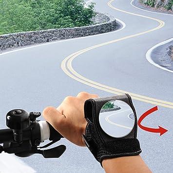Bike Bicycle Hand Wristband Backeye Rear View Mirror Wrist Adjustable CycleGlove