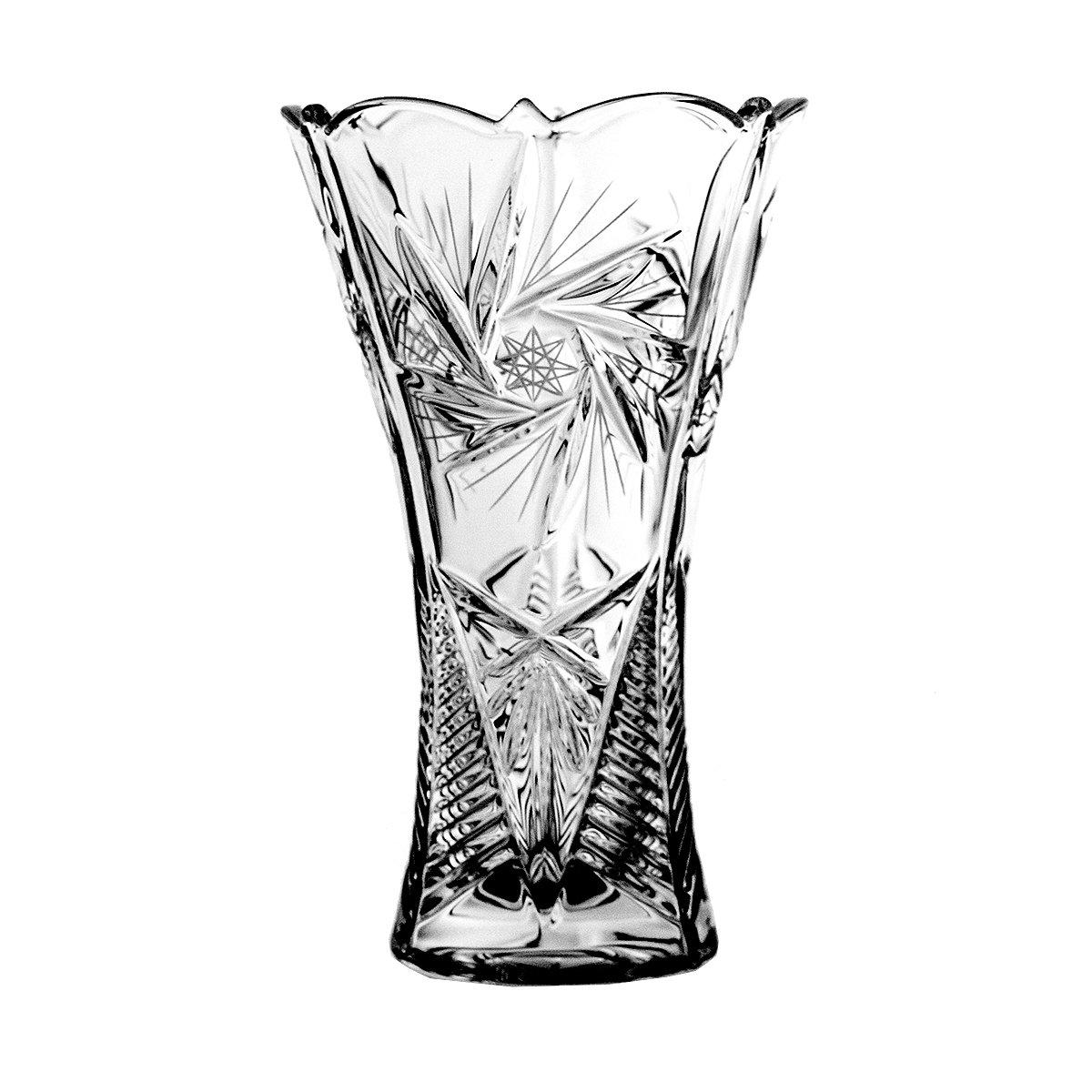 Crystaljulia Crystalite schleudersternmuster 4923 Vase DE 25 cm, Transparent