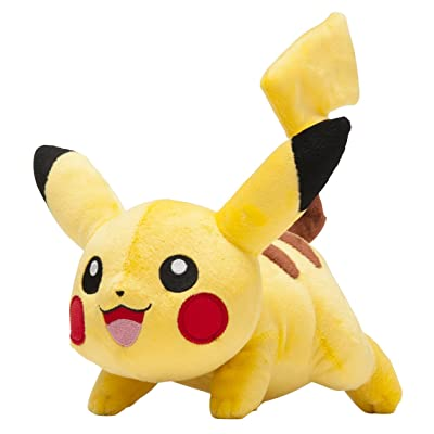 Pokemon Center Original Running 8 Inch Pikachu Plush Doll: Toys & Games