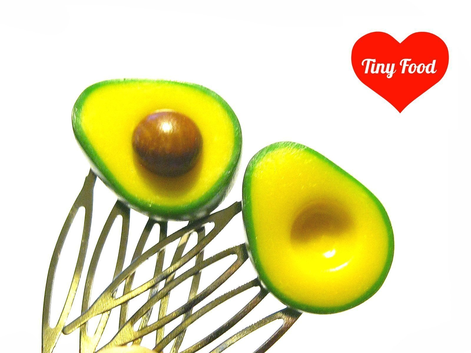 Avocado Comb Set - Tiny Food Jewelry