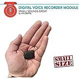 Mini Modul Spionage Rekorder Stimmenaktivierter 8GB - 570 Stunden | Nur 8mm dünn | HD Stimme 1536kbps | 24 Stunden Batterie | Wählbare Aufnahmequalität | Gehäuse aus Schrumpfschlauch