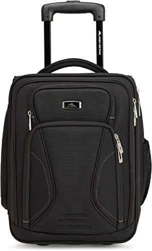 High Sierra Endeavor Wheeled Underseat Carry-On, Black, One Size
