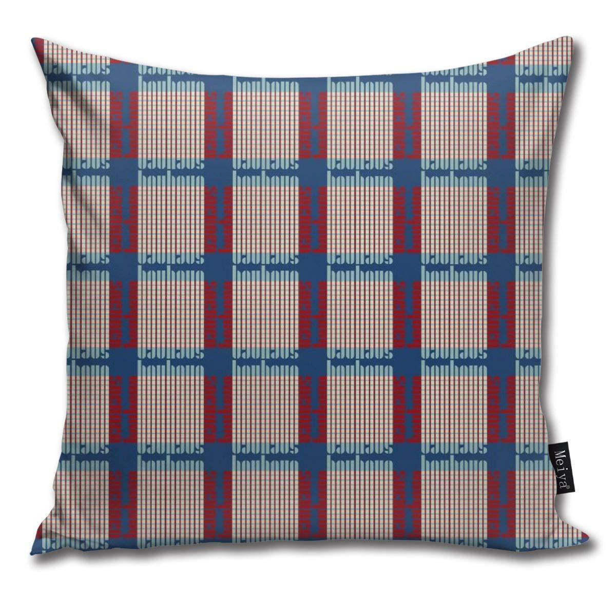 Amazon.com: Brecoy Bauhaus Plaid Pacificeggred Throw Pillow ...