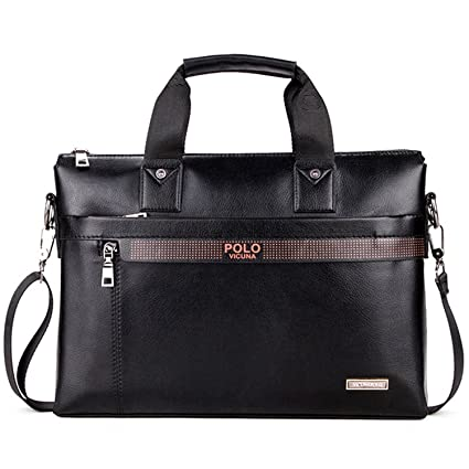 57f3c4f2351d Image Unavailable. Image not available for. Color  MESIDA POLO Briefcase  Business Man Briefcase Mens Handbags Shoulder Bags Luxury Leather Laptop ...