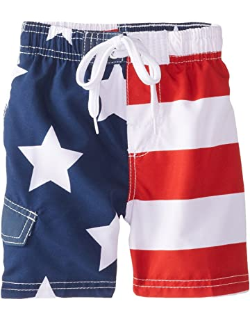 b92205cb023f4 Kanu Surf Boys' American Flag Swim Trunk