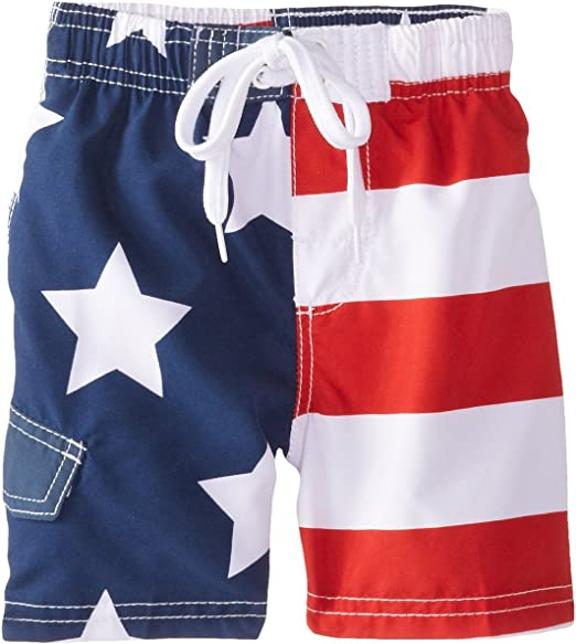 First Wave Red White and Blue Stars and Stripes Big Boys Board Shorts