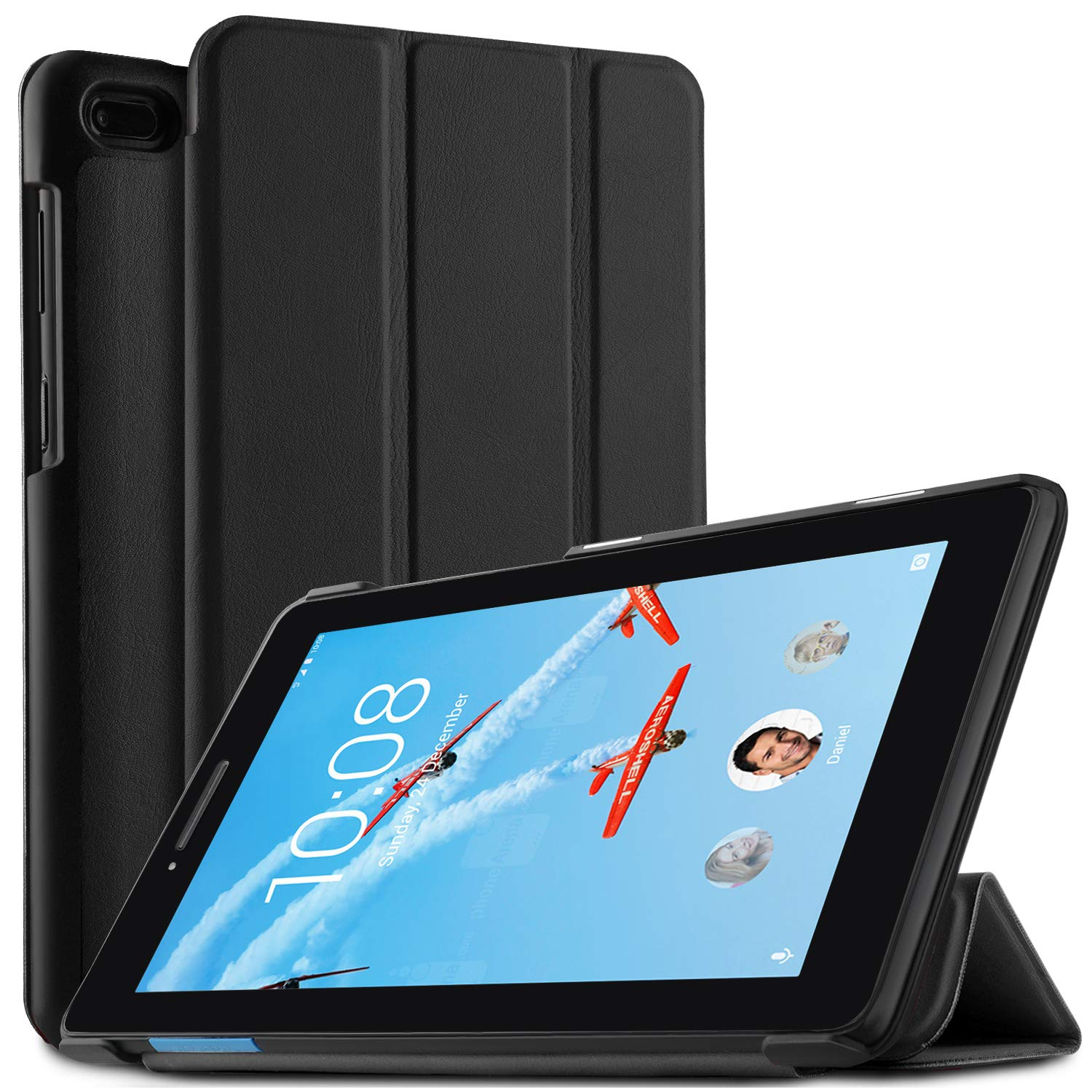 new arrival be2d0 cce0f IVSO Case for Lenovo Tab 7 Essential Tablet, Ultra Lightweight Slim Smart  Cover Case for Lenovo Tab 7 Essential/Lenovo Tab 4 7 Essential Tablet ...