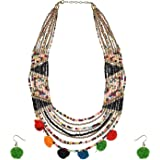muccasacra Multicolor Beads Cotton Necklace Set For Girls