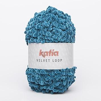 Katia Velvet Loop - Farbe: Canard (108) - 100 g / ca. 44 m Wolle ...