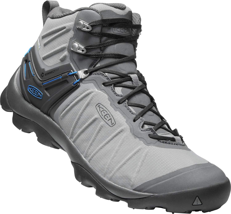 KEEN - Men's Venture Mid Waterproof Hiking Boot, Steel Grey/Magnet, 9 US by KEEN