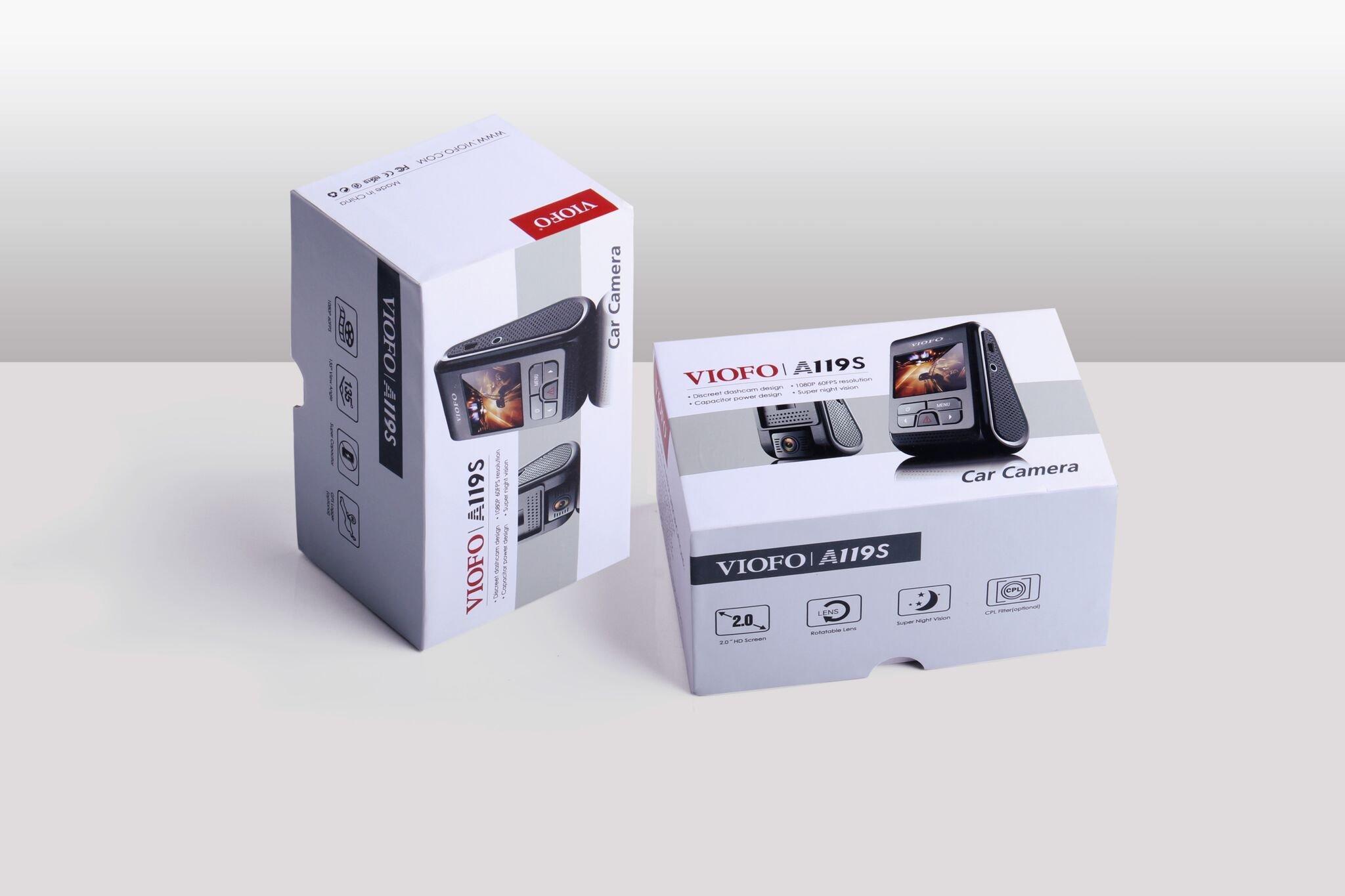 VIOFO A119S Full HD 1080p 60fps Car Dash Camera with Sony Exmor IMX291 Sensor (No GPS)