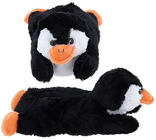 "Wishpets Stuffed Animal - Soft Plush Toy for Kids - 8"" Penguin Slippers"