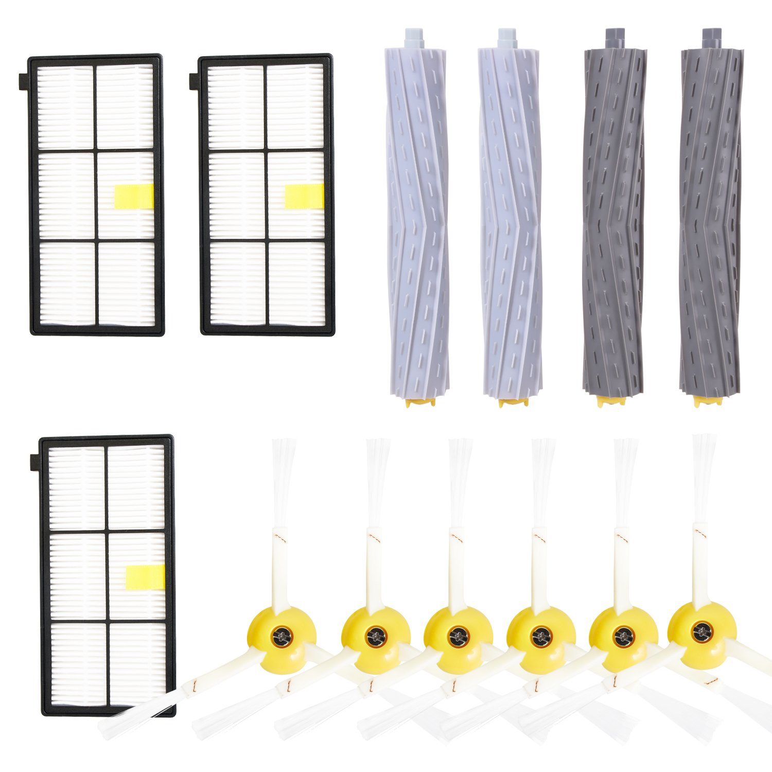 YOMEKOLY Accessories Kit for iRobot Roomba 800 900 Series 805 850 860 861 864 866 870 871 880 885 890 960 966 980 990 Replacement Parts Replenishment iRobot Set Hepa Filter Side Brush Roller