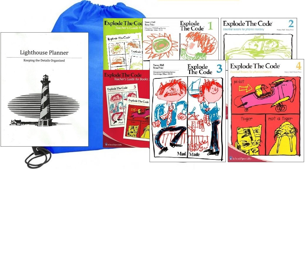 Explode the Code Workbooks 1-4 with Teacher Guides Homeschool Kit in a Bag PDF