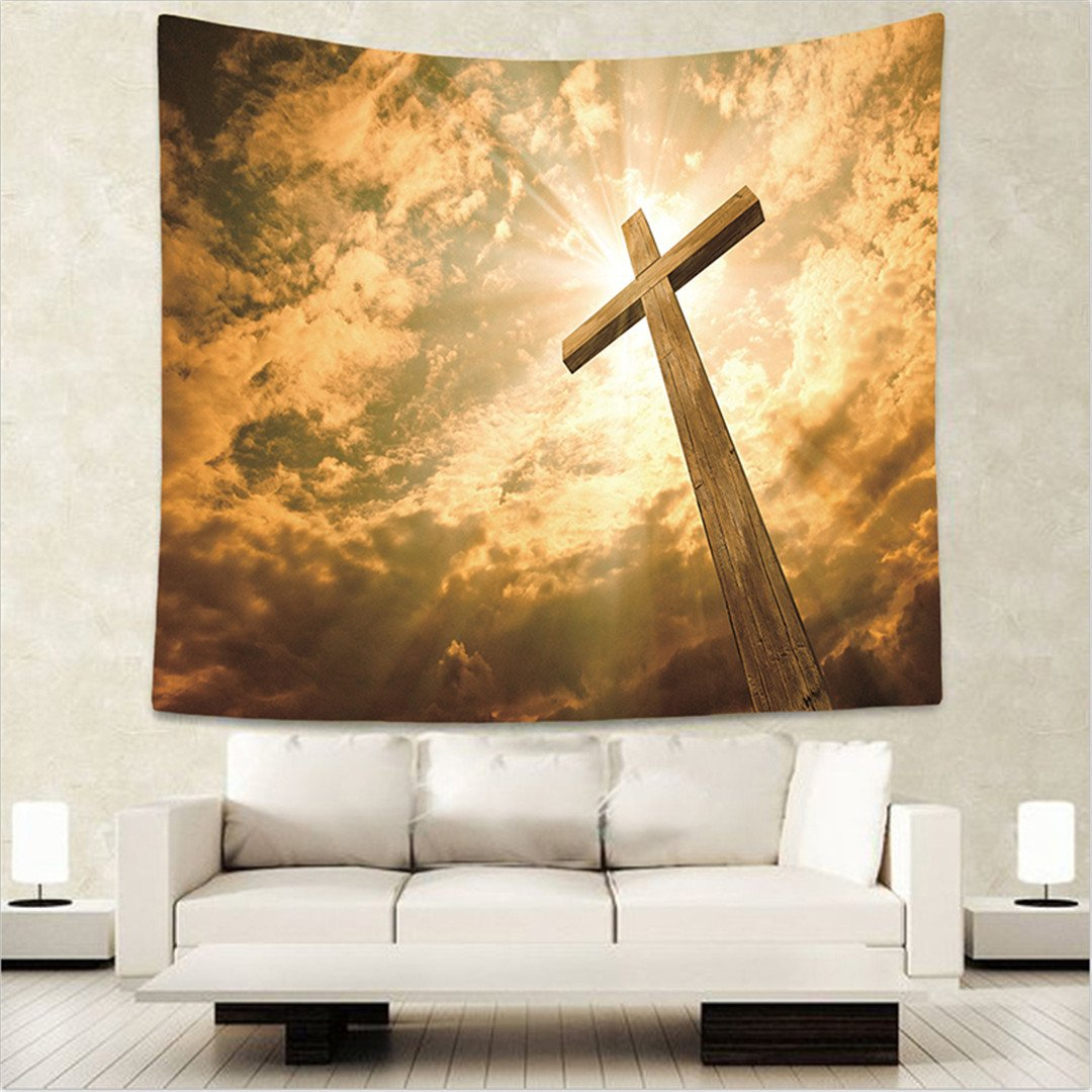 Dodoer Home Decorative Wall Hanging Carpet Tapestry 130X150cm Rectangle Bedspread Christian Jesus Religion People Pattern by Dodoer