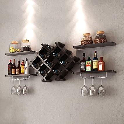 YXX- Cocina de Madera montado en la Pared del Estante del Vino Gran Madera de