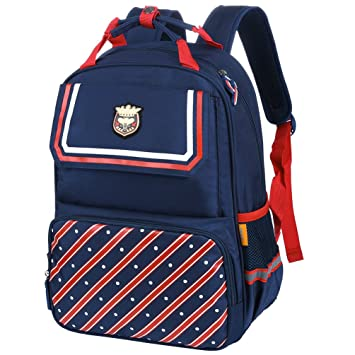 33fce2c8c188 Vbiger School Backpack Student Shoulders Bag Trendy School Bag Casual  Outdoor Daypack for Primary School Students (Dark Blue)  Amazon.in  Bags