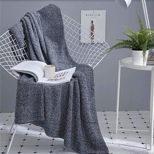 ZYTFC Manta Tejida de algodón Mantas Modernas y cómodas para Cubrir el sofá Mantas para Dormir La Siesta se acuesta 180 * 200 cm: Amazon.es: Hogar