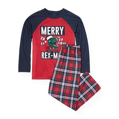 the childrens place big boys dinosaur christmas pajamas ruby 90483