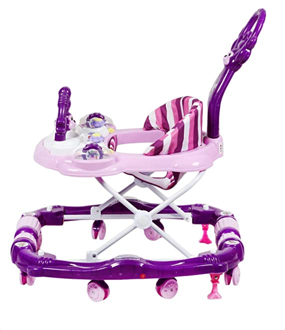 GTC ITN-815-1 Baby Apple 2 in 1 Functional Walker Cum Rocker (Purple)