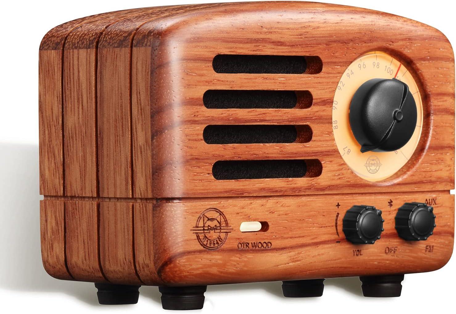 Bluetooth Speaker, MUZEN Transistor AM FM Radio, Portable Bluetooth Speaker, Loud Volume, Stereo Sound, Retro Old Fashion Design, Wireless Speaker with FM/AUX Radio Function for Home, Office, Outdoor