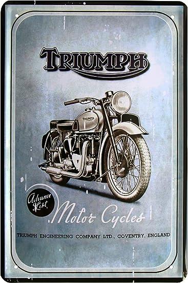 Triumph Motorcycles cartel de chapa