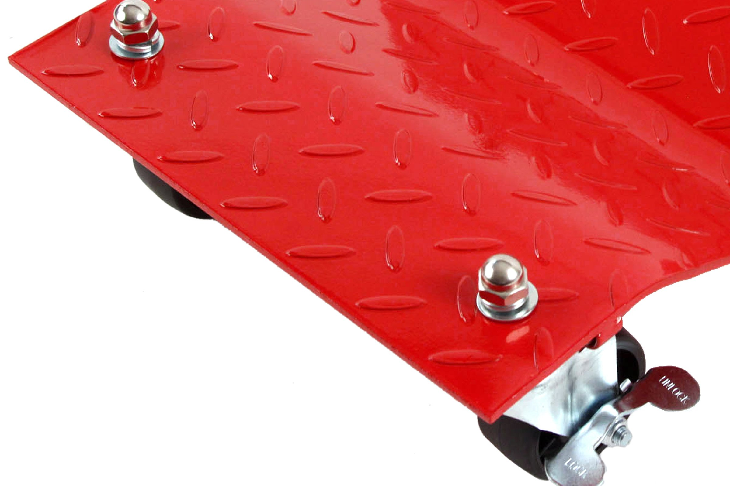 4 - Red 12'' Tire Premium Skates Wheel Car Dolly Ball Bearings Skate Makes Moving A Car Easy Furniture Movers by Red Hound Auto (Image #2)