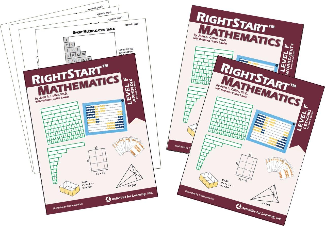 RightStart Mathematics Level F Book Bundle