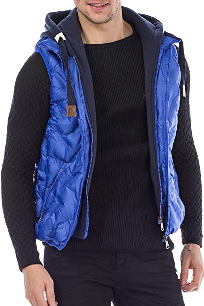 color azul sin mangas talla M Chaleco acolchado para hombre Cipo /& Baxx