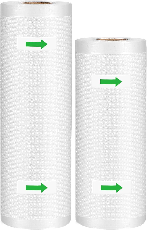 Syntus Vacuum Sealer Bags 2 Pack Commercial Grade Food Saver Bag Rolls, 1 Roll 8