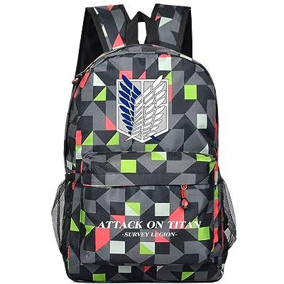 YOYOSHome Anime Attack on Titan Cosplay Luminous Bookbag College Bag Backpack School Bag (12)