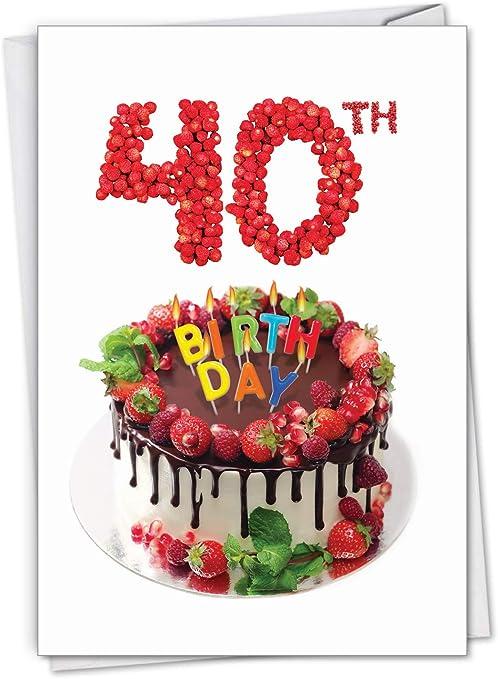 Marvelous Amazon Com Big Day 40 Milestone 40Th Birthday Card With Personalised Birthday Cards Vishlily Jamesorg
