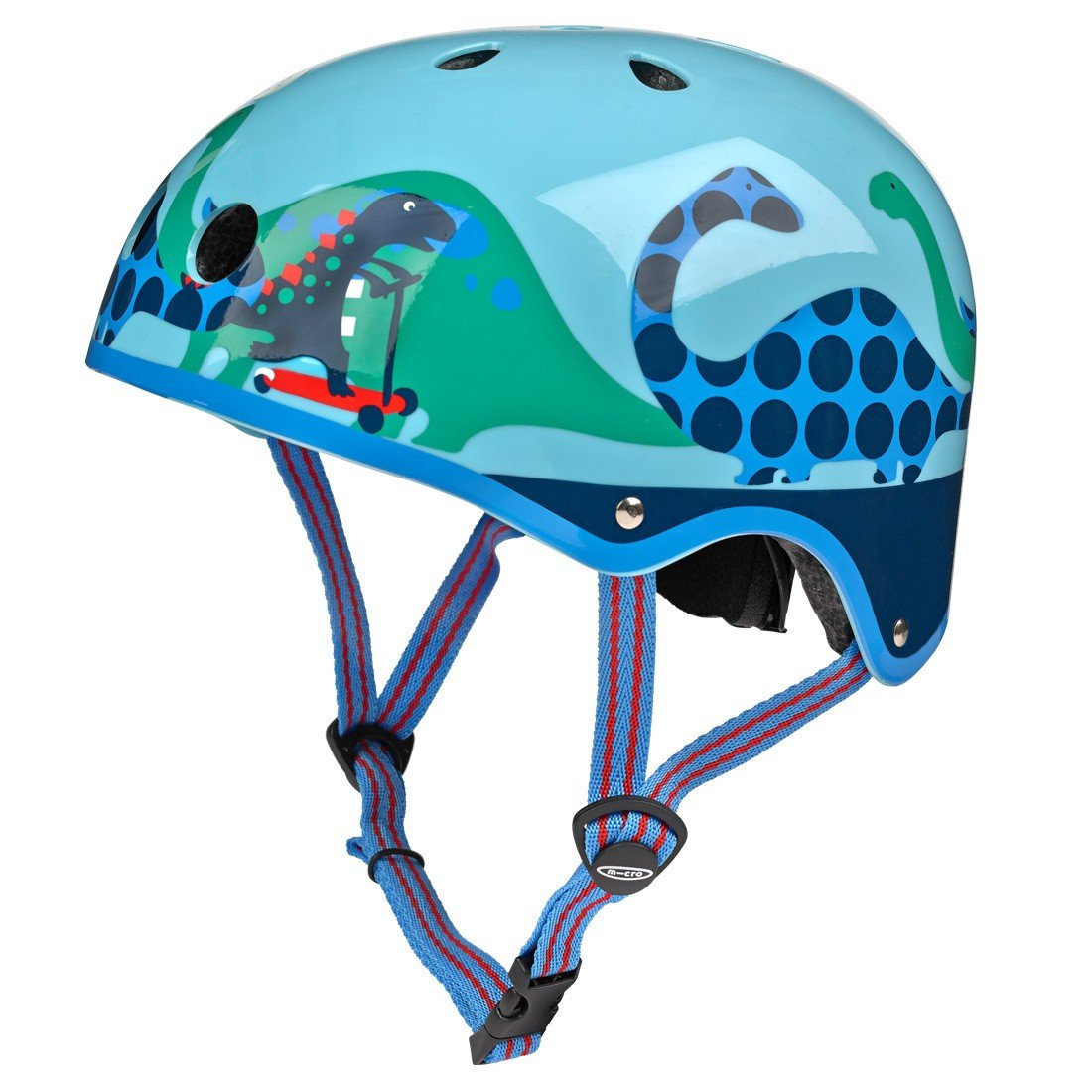 Micro Blue Scootersauras Helmet - Small (48-53cm)